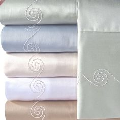 Supreme Sateen 300 Thread Count Swirl Sheet Set