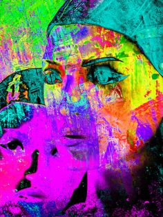 'Turquoise eyes' von Gabi Hampe bei artflakes.com als Poster oder Kunstdruck $20.79