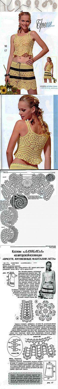 BRUJAS / cordón / | Artículos en la categoría BRUJAS / cordón / | el blog super59 Crochet Skirts, Crochet Clothes, Irish Crochet, Crochet Lace, Lace Patterns, Crochet Patterns, Bruges Lace, Point Lace, Crochet Fashion