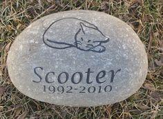 Cat Memorial Stone Headstone Pet Memorial Grave Stone
