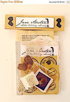 jane austen letter writing mini kit stationery card making letter writing sets vintage letters snail mail pen pals jane