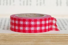 $1.99  Red and white plaid washi tape