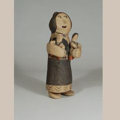 "#adobegallery #CochitiPuebloPottery #SouthwestIndianPottery - Maria Laweka (1930 - ?) #MariaLaweka Category: #Figurines Origin: #Cochiti #Pueblo Medium: clay, pigment Size: 9-1/2"" height Item # C3688.60"