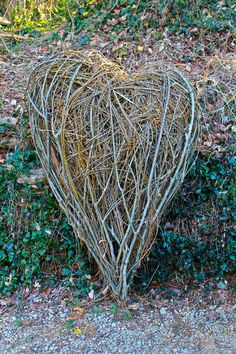 Here to all the Lovers out there.  Willow Heart. 5 ft.H.