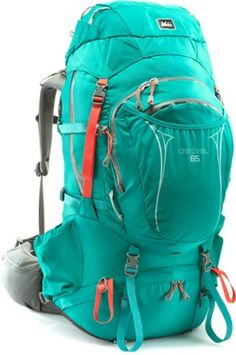 REI Crestrail 65 Pack - not necessarily this one but a good hiking/camping backpack with room for sleeping bag etc Camping And Hiking, Hiking Gear, Hiking Backpack, Camping Gear, Outdoor Camping, Outdoor Travel, Outdoor Gear, Hiking Tips, Hiking Packs