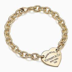 Tiffany armband mit herzmarke gold
