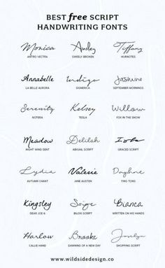 To save you time and effort, I've put together a list of my favorite script handwriting fonts that are completely free. Pretty, casual and authentic… The post Best Free Script Handwriting Fonts appeared first on Garden ideas. Mini Tattoos, Body Art Tattoos, New Tattoos, Tatoos, Finger Tattoos, Kid Name Tattoos, Tattoo Kids Names, Kids Initial Tattoos, Girl Spine Tattoos