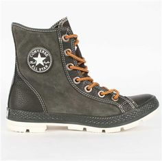 Converse Chuck Taylor Hi Top Outsider Boots in Charcoal Suit Shoes, Top Shoes, Me Too Shoes, Men's Shoes, Shoe Boots, Converse Boots, Converse Men, Types Of Shoes Men, Pullover Shirt