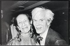 Diana Vreeland and Andy Warhol by Bob Colacello (1975)