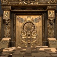 Egyptian Door Vignette , Chris Mott on ArtStation at…