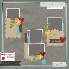 $1.50 Pick a Pocket v.1 by keepscrappin designs