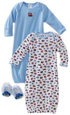 Gerber Baby-boys Newborn 2 Pack Gown Lap Shoulder « Clothing Impulse