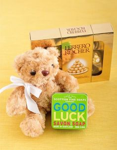 Good Luck Soap With Ferrero Rocher Same Day Delivery Service, Ferrero Rocher, Good Luck, Bath And Body, Teddy Bear, Gifts, Presents, Best Of Luck, Teddy Bears
