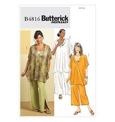 Butterick Separates Pattern B4816 - Women's Tunic and Pants - Sz 18W/20W/22W/24W