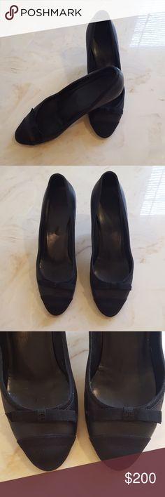 Authentic CHANEL Pumps Authentic CHANEL Leather Pumps. Lots of wear mainly on soles, heels and tips of shoe toe. (price reflects)(see pics), but still has lots of wear left in them. Offers welcomed. CHANEL Shoes Heels