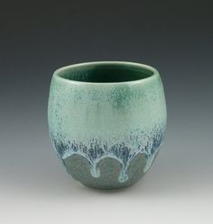 Stemless Wineglass or Teacup in Blues and by AAslaksonPottery, $16.00