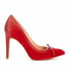 bow detail heel in red