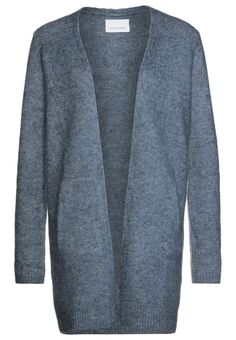 Samsøe & Samsøe ETA - Cardigan - heaven melange - Zalando.no My Wardrobe, Dark Blue, Sweaters, Cardigans, Coat, Clothes, Business, Fashion, Ladies Trends