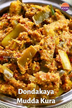 Dondakaya Mudda Kura recipe is widely popular in andhra and some parts of karanataka. The recipe has no onion and garlic. The recipe is so simpe to make. Try and share your feedback South Indian Vegetarian Recipes, Lunch Recipes Indian, Healthy Indian Snacks, Vegetarian Recipes Videos, Spicy Recipes, Curry Recipes, Raw Food Recipes, Goan Recipes, Cooking Recipes