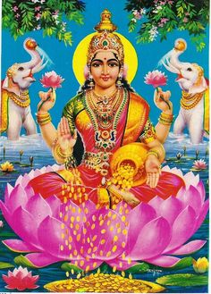 Hindu Goddess Lakshmi prosperity and wealth
