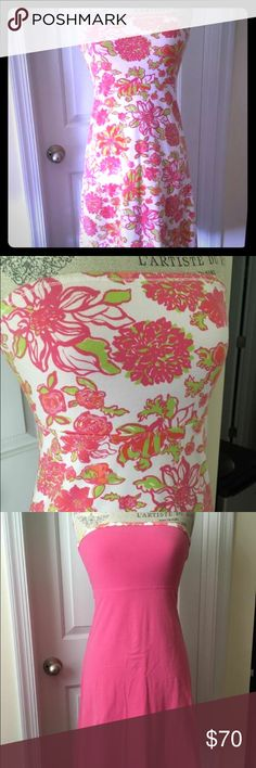 Lilly Pulitzer Reversible Dress XS EUC! This dress is literally two dresses in one. I always favored the floral side :) size XS. The tag was removed because it is a reversible item but guaranteed to be an XS. It can fit a small easily. Shipped immediately from a smoke free home. 💕🌴 Lilly Pulitzer Dresses Midi