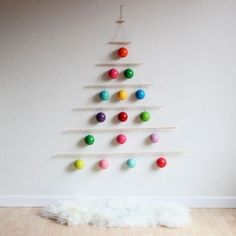 A wall Christmas tree can be very useful especially for small living rooms.Today we have chosen some Creative Wall Christmas Tree Designs that you can DIY Unusual Christmas Trees, Wall Christmas Tree, Creative Christmas Trees, Alternative Christmas Tree, Noel Christmas, Modern Christmas, Xmas Tree, All Things Christmas, Christmas Crafts