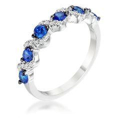 Rhodium and Hematite Plated S Shape Sapphire and Clear CZ Half Eternity Band. Band Width: Carat Weight: Jewelry Base Metal: Lead Free Alloy (brass) Jewelry Plating Color: Silvertone Size: x x Stone Cut: Round Stone Size: - Blue Opal Ring, Blue Rings, Blue Sapphire, Silver Ring, Half Eternity Ring, Eternity Bands, Charms, Diamond Dangle Earrings, Three Stone Engagement Rings