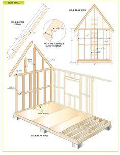 Plans For 6 39 X 6 39 Playhouse Backyard Pinterest Kid