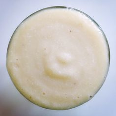 Nutty White Smoothie: banana, pear, almond milk, lime, coconut