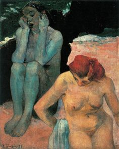 "Paul Gauguin ""Life and Death"", 1893 (France, Post-Impressionism, cent. Paul Gauguin, Renoir, Figure Painting, Painting & Drawing, Monet, Impressionist Artists, Pierre Bonnard, Vincent Van Gogh, Figurative Art"