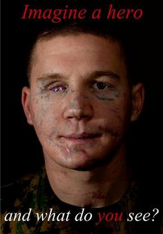 UNCOMMON VALOR - This is what a HERO looks like.  In 2010, he threw himself on a grenade to save his buddy.  We don't just see Lance Cpl. Kyle Carpenter in this picture.   We see an example of why we have our freedom.   We see a MAN among men.   We see someone we wish we could thank in person.  https://www.facebook.com/photo.php?fbid=484731728275730=a.362561847159386.84375.361783440570560=1