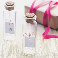 Tiny Message In A Bottle - gifts for her