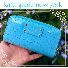 ⚠️SALE⚠️KATE SPADE ♠️Jazzy Metro Spade Wallet TEMPORARY SALE⚠️⚠️NWT KATE SPADE Jazzy Metro Spade Wallet in Adriatic (Aqua) colorPerfect for summer! Comes with care booklet and original tags. Received this gorgeous wallet as a gift but its just not my color.. Can't return it so I will be considering all offers--don't be shy! Value on tag: $158  kate spade Bags Wallets