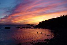 Sunset. Kaunissaari, Finland
