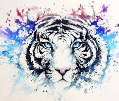Image result for tiger painting colourful