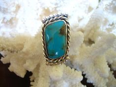 Vintage Sterling Silver Handcrafted Turquoise by charmingellie, $26.00