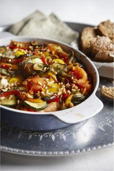 Marokkaanse groenteschotel met spiegelei - Boodschappen