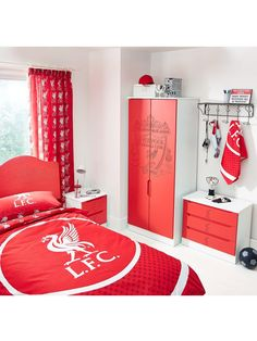 Liverpool FC 2-Drawer Bedside Cabinet | very.co.uk