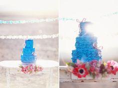 Modern Blue Wedding Cake