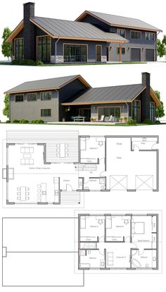 Home Plan, House Plans, Floor Plans housedesign houseplans floorplans architecture architects is part of House design - Metal House Plans, Pole Barn House Plans, Pole Barn Homes, New House Plans, Dream House Plans, Modern House Plans, Modern Barn House, Modern Farmhouse Plans, Steel Building Homes