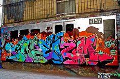 Street Art NYC Graffiti Piece, Graffiti Tattoo, Graffiti Murals, Street Graffiti, Graffiti Lettering, Graffiti Writing, Graffiti Tagging, Graffiti Alphabet, Graffiti Wildstyle