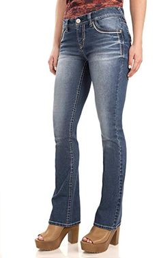 WallFlower Women's Juniors Classic Legendary Stretch Bootcut Denim Jeans w/Back Flap Pocket: WallFlower Jeans Best Bootcut Jeans, Denim Jeans, All Fashion, Womens Fashion, Jeans Fashion, Fashion Clothes, Trendy Fashion, Fashion Brands, Wallflower Jeans