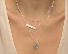 Custom Layered Necklaces Bar Necklace and by LayeredAndLong