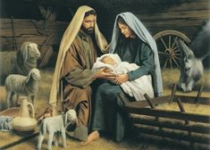 LDS Art - Christmas & Nativity — Altus Fine Art Holy Family Pictures, Baby Jesus Pictures, Simon Dewey, Arte Lds, Nativity Painting, Lds Art, The Shepherd, Light Of The World, Madonna And Child
