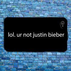 Funny Cute Justin Bieber iPhone Case