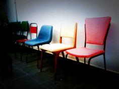 cadeiras vintage Concepção e execução Zeca para Escola São Paulo.