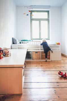 STAURAUM für Dein Kinderzimmer - einfach ein Hochbett bauen!  #kinderzimmer #ikea #hack #hochbett #podestbett #diy