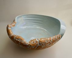 """Maggie Williams - Sea-bowl - """"Rock-pool 2"""" High-fired Stoneware 420mm wide 2018 Rock Pools, Serving Bowls, Stoneware, Ceramics, Sea, Tableware, Bowls, Dinnerware, Serving Dishes"""