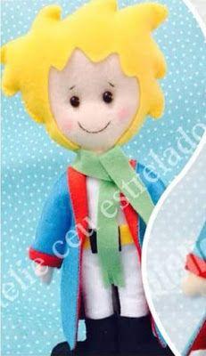 Pequeno Príncipe em Feltro; Molde pequeno príncipe, Fieltro Pequeno Príncipe; Felt Little Prince; Parte 1