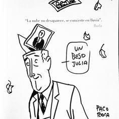 """La nube no desaparece, se convierte en lluvia"".  #Buda #PacoRoca #Arrugas"